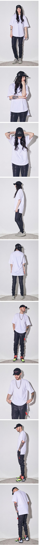 라울 LAUL BOXY HALF SHIRTS WHITE 라울 박시반팔셔츠 화이트(이너티셔츠)